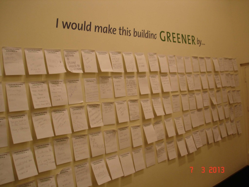 The Idea Wall as part of the Green Council Launch